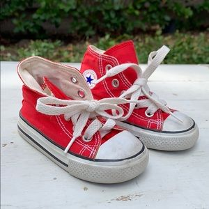Baby Toddler Red Converse Size 4